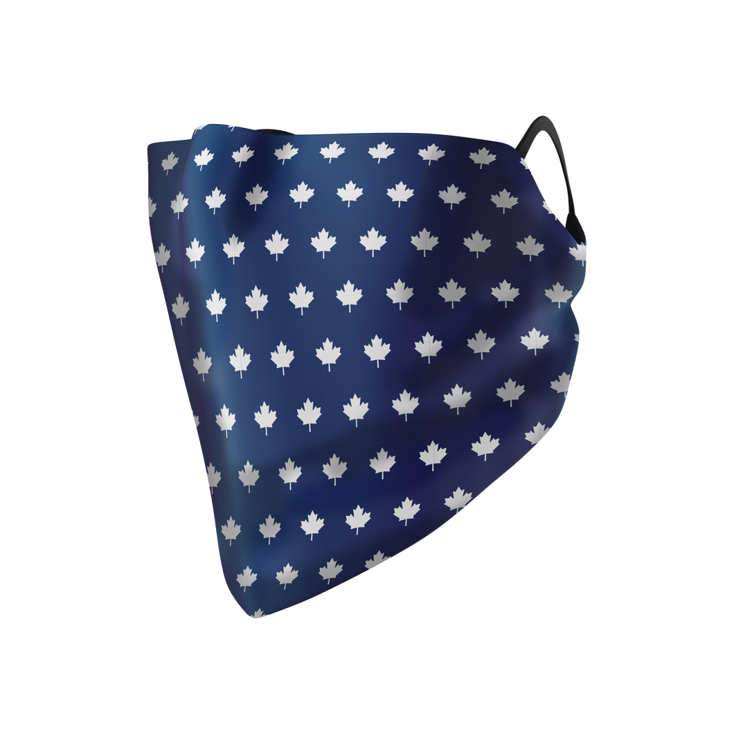 Navy Maple Hankie Mask - Protect Styles