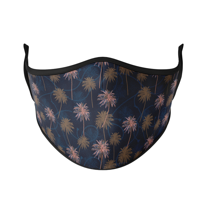 Navy Palms Reusable Face Masks - Protect Styles