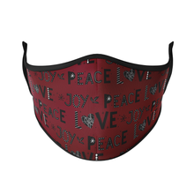 Load image into Gallery viewer, Peace Love Joy Reusable Face Masks