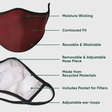 Load image into Gallery viewer, Holiday Bows Reusable Face Masks - Protect Styles
