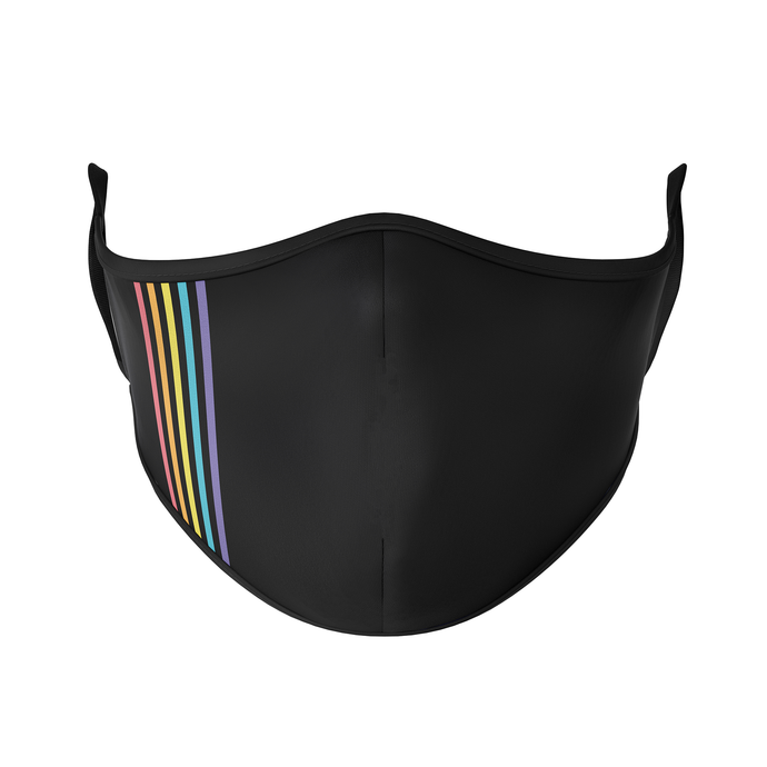 Simple Rainbow Reusable Face Mask - Protect Styles