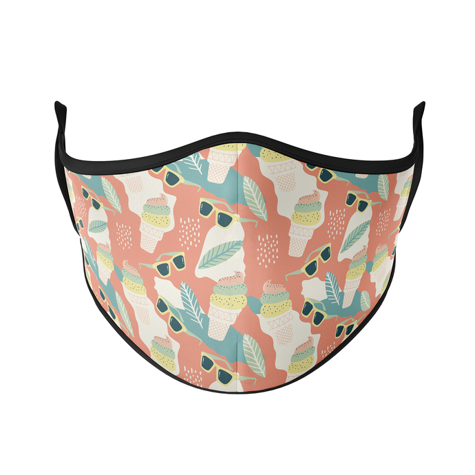 Sunglasses & Icecream Reusable Face Masks - Protect Styles