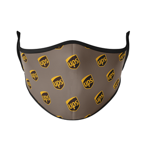 UPS Printed Logo Reusable Face Mask - Protect Styles