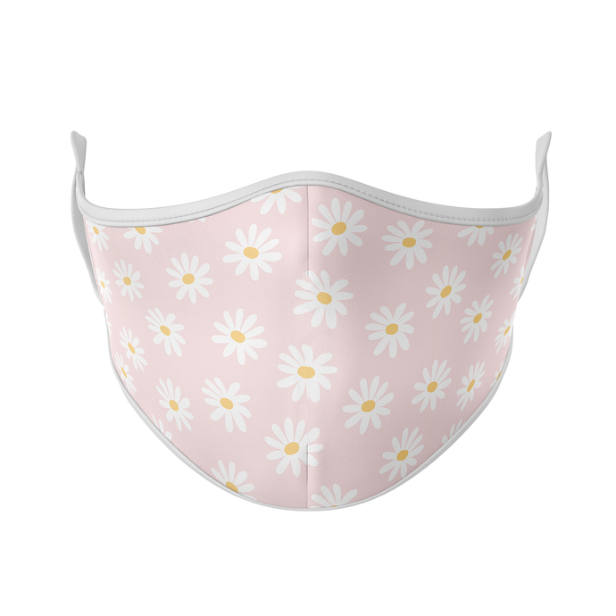 White Daisy Reusable Face Masks - Protect Styles