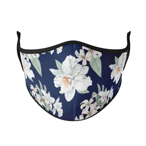 White Flowers Reusable Face Masks - Protect Styles