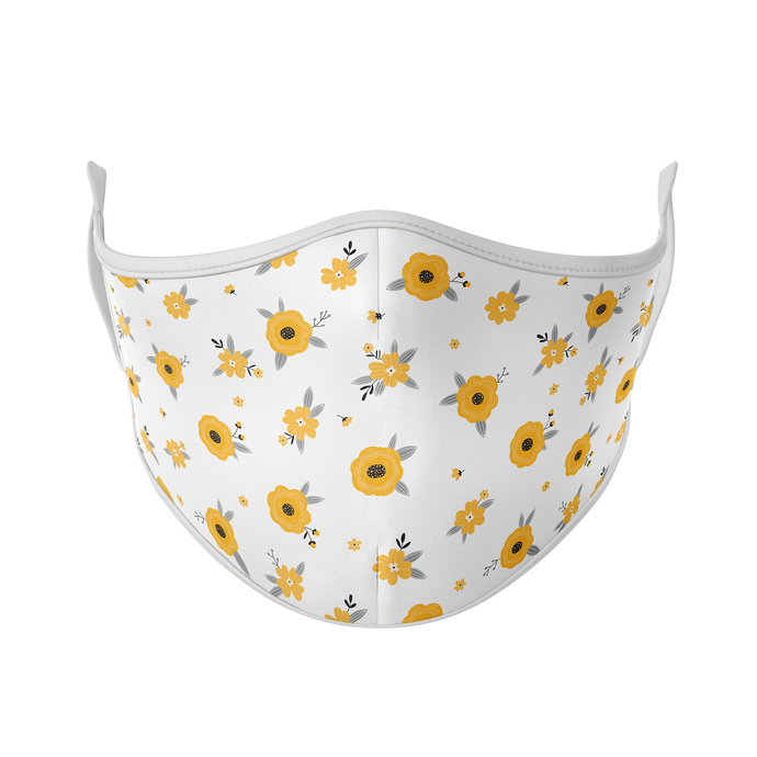 Yellow Flowers Reusable Face Masks - Protect Styles