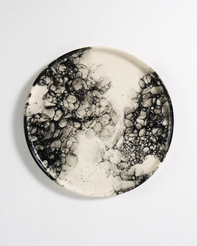 Ceramic Plate - Bubble Glaze