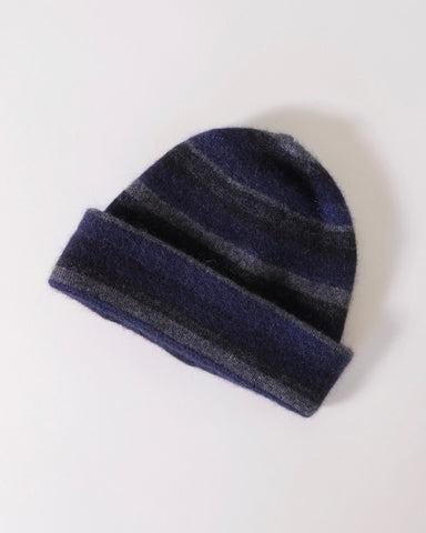 Stripe Men's Beanie, Possum merino, Native World, Made in NZ, NZ made, The Fantail House