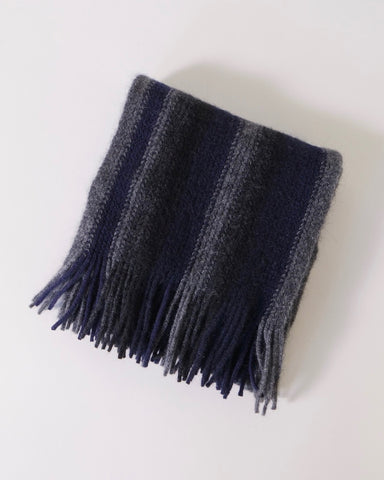 Striped scarf, Possum merino, Native World, NZ made, The Fantail House