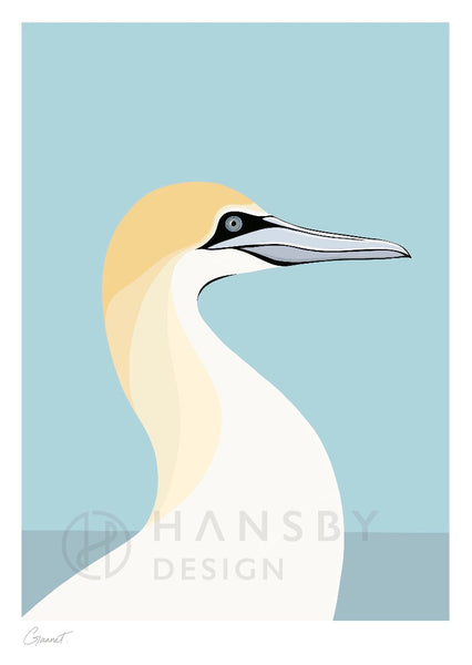 The Fantail House, New Zealand Made, Cathy Hansby, Art Prints, New Zealand Native Birds, Gannet