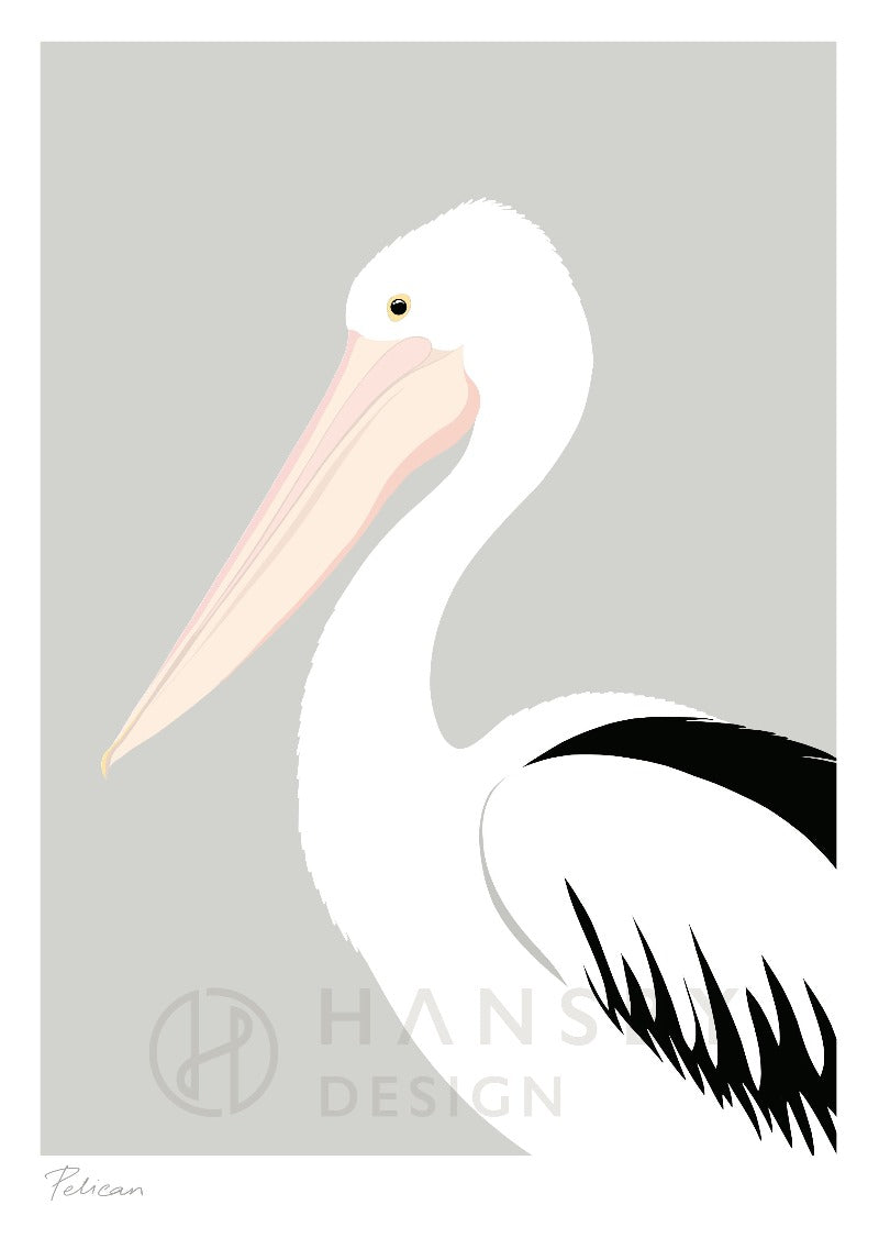The Fantail House, Made in New Zealand, Cathy Hansby, Art Prints, Exotic Birds, Pelican