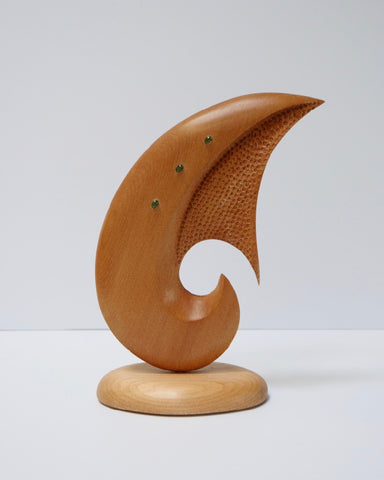 The Fantail House, Made in NZ, Hand Carved, Sculpture, Kauri, Fish Hook