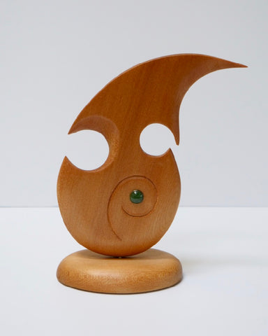 The Fantail House, Made in NZ, Kauri, Koru, Sculpture