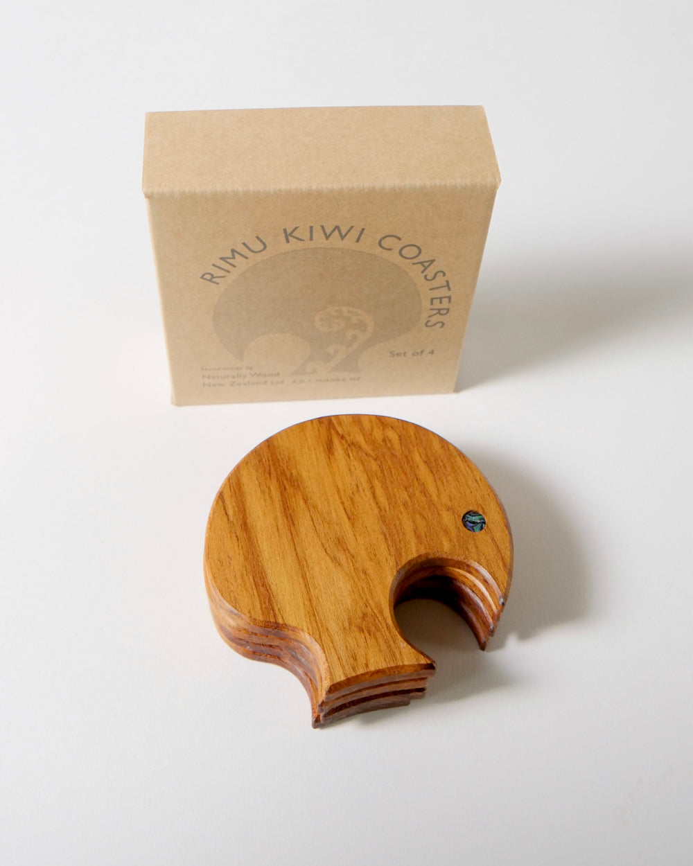 The Fantail House, Handcrafted in Hokitika, NZ Made, Kiwi, Rimu, Coasters