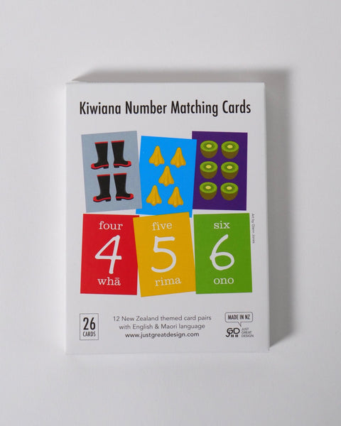 The Fantail House, Made in New Zealand, Kiwiana Number Matching Cards