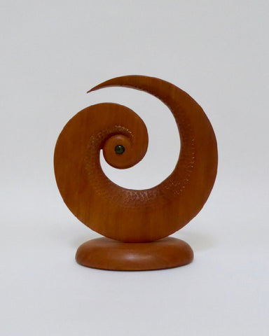 Koru Sculpture - Totara