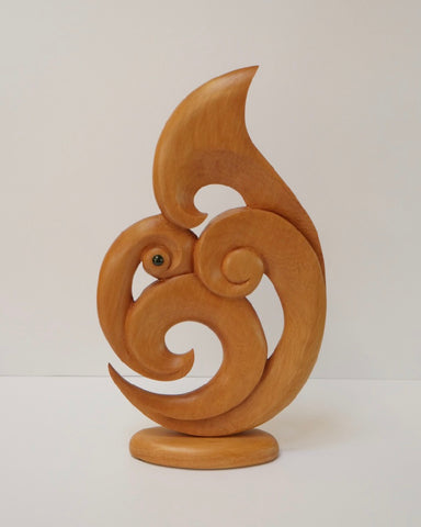 The Fantail House, Made in NZ, Kauri, Sculpture, Koru, Fish Hook, Whale Tail