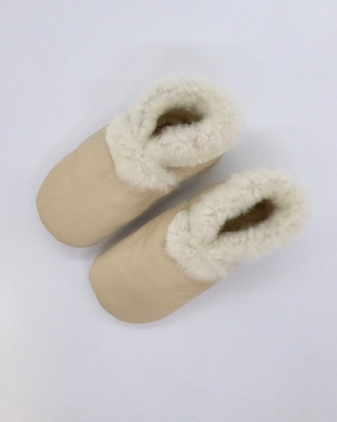 The Fantail House, Made in NZ, Lambskin Booties, 6-12 months