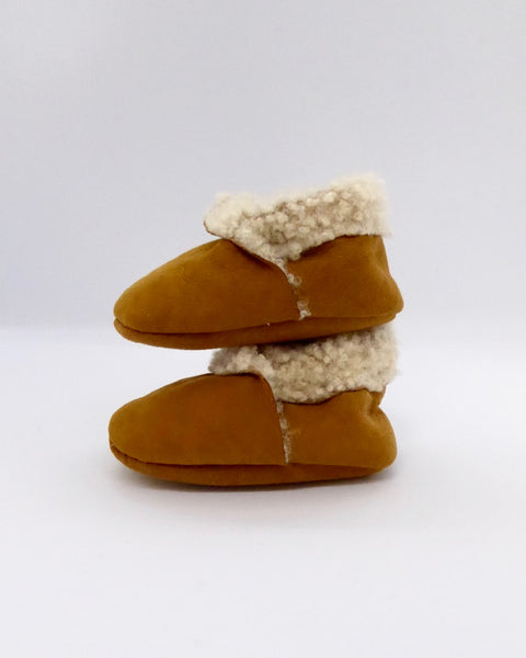 The Fantail House, Made in NZ, Lambskin Booties, 0-3 months