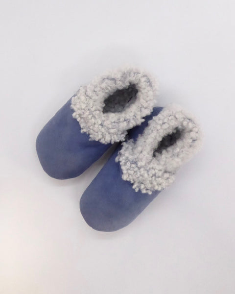 The Fantail House, Made in NZ, Lambskin Booties, Cornflower Blue, 6-12 Months