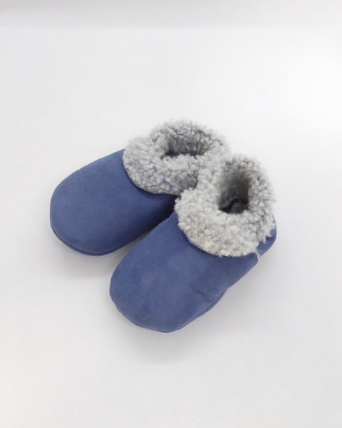 The Fantail House, Made in NZ, Lambskin Booties, Cornflower Blue, 3-6 Months