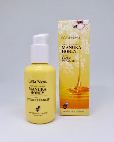 The Fantail House, made in New Zealand, NZ made, Wild Ferns, Manuka Honey Gentle Creme Cleanser, Manuka Honey skincare