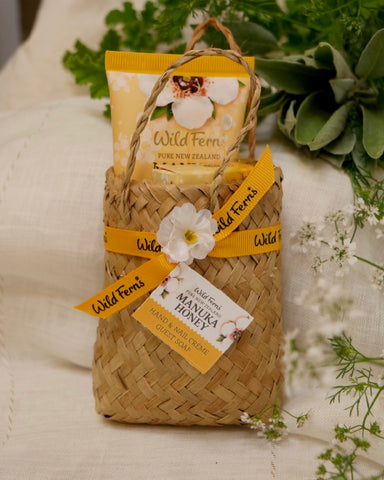 The Fantail House, made in New Zealand, Wild Ferns, Manuka Honey Skincare Gift Basket
