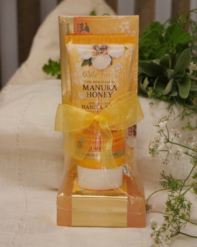 The Fantail House, made in New Zealand, Wild Ferns, Manuka Honey Skincare Gift Set