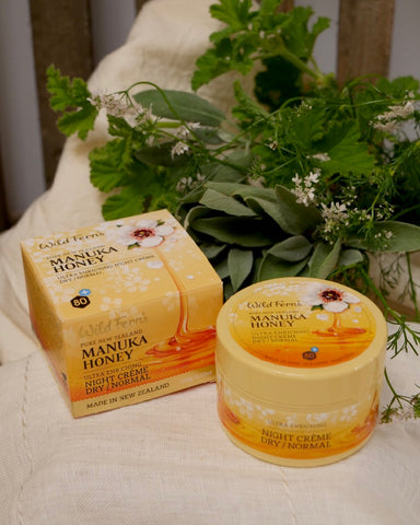 The Fantail House, made in New Zealand, Wild Ferns, Manuka Honey Night Creme