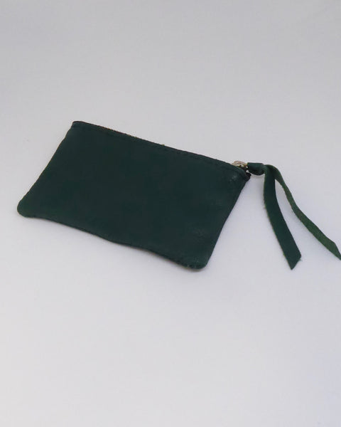 The Fantail House, NZ Made, Deerskin Purses, Eve Wallace, Four Peaks, Dark Green