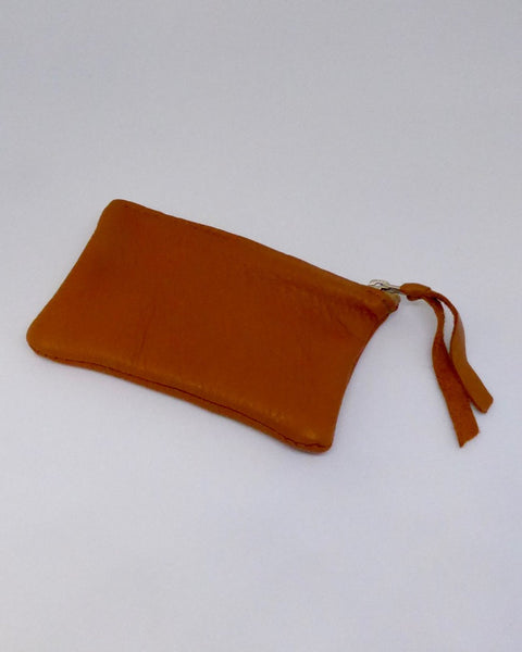 The Fantail House, NZ Made, Deerskin Purses, Eve Wallace, Four Peaks, Orange