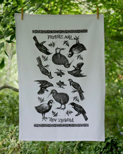 The Fantail House, Made in NZ, Tea Towels, Cotton,  NZ Birds