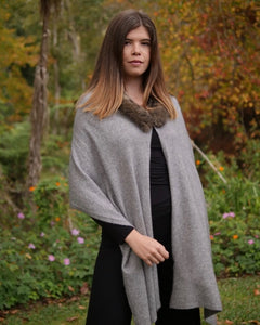 The Fantail House, Made in New Zealand, Possum Merino, Cape, Wrap, Women's Knitwear
