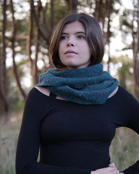 The Fantail House, Native World, Made in New Zealand, Possum Merino, Scarf, Jade