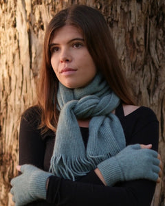 The Fantail House, Native World, Made in New Zealand, Possum Merino, Plain Scarf, Topaz
