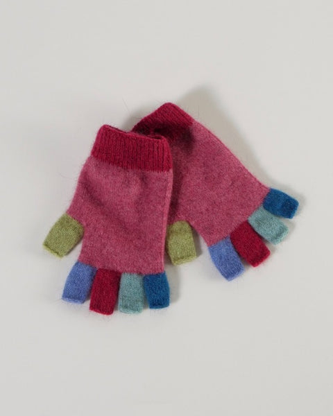 The Fantail House, Made in New Zealand, Native World, Possum Merino,  Raspberry Gloves
