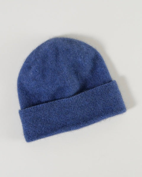 The Fantail House, Native World, Made in New Zealand, Possum Merino, Plain Beanie,  Bluebell