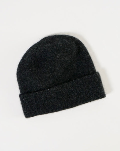 The Fantail House, Native World, Made in New Zealand, Possum Merino, Plain Beanie, Charcoal