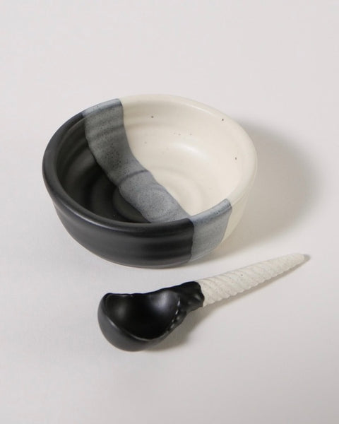 The Fantail House. Made in New Zealand, Condiment bowl and spoon