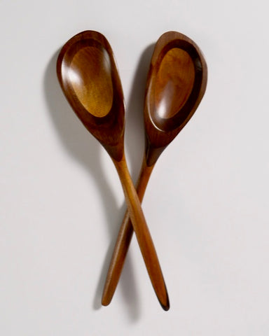 The Fantail House, Made in New Zealand, Salad servers, gourmet, Totara, Walnut, One off