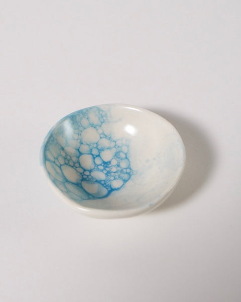 The Fantail house, Made in New Zealand, Ceramic Mini Bowl, Blue, Bubble Glaze
