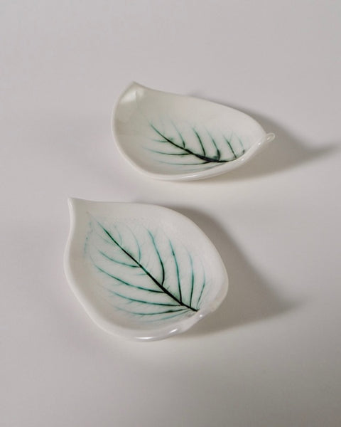The Fantail House, Made in New Zealand, Ceramic, Leaf Design, Soap Dish