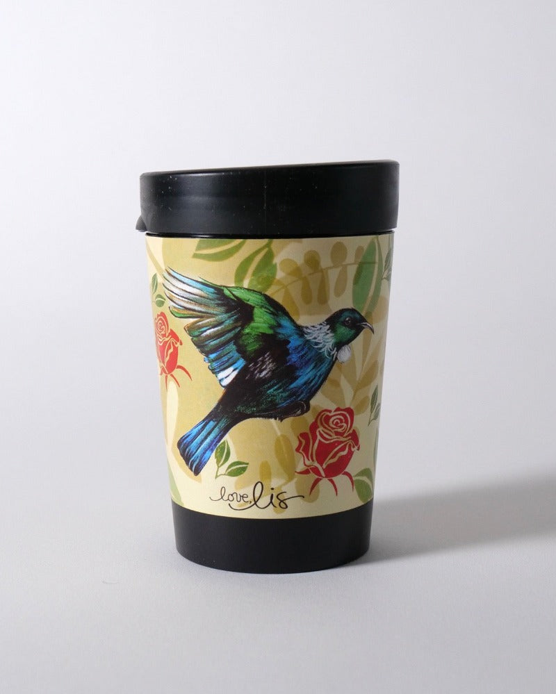 The Fantail House, NZ Made, Cuppacoffeecup, Takeout Cup, Reusable Cup, Tui