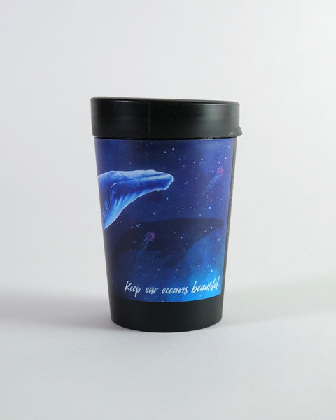 The Fantail House, NZ Made, Cuppa Coffee Cup, Reusable Cup, Takeaway Cup, Whale