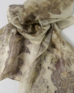 The Fantail House, Made in NZ, Silk Scarf, Botanical  Print