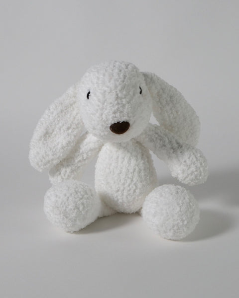 The Fantail House, Made in New Zealand, Soft Toys, Rabbit, Crocheted, White