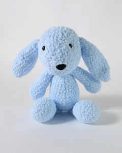 The Fantail House, Made in New Zealand, Soft Toys, Rabbit, Crocheted, Blue