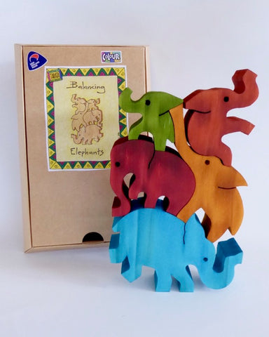 The Fantail House, Made in New Zealand, Tarata, Wooden Toys, Wooden Puzzle, Elephants