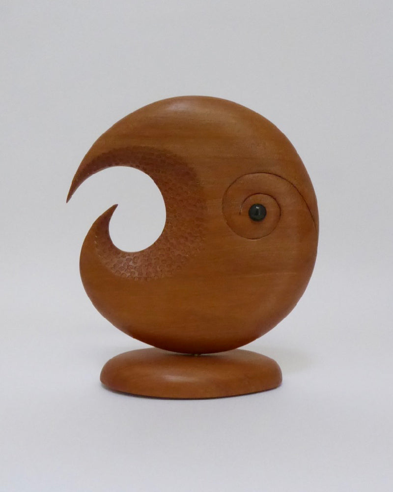 The Fantail House, Made in New Zealand, Koru, Totara, Sculpture