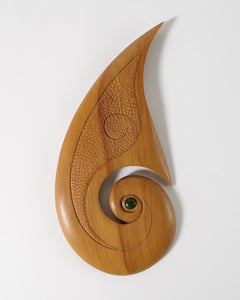 The Fantail House, Made in NZ, Sculpture, Rimu, Fish Hook